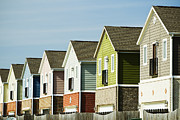 Arkansas Photo Posters - Row Of Colorful Homes Poster by Wesley Hitt