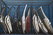 Old Car Door Photos - Row of Dismantled Car Doors by Noam Armonn