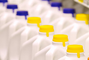 Grocery Store Prints - Row of Milk Jugs Print by David Buffington