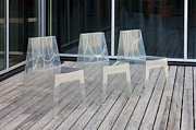 No 3 Prints - Row of Modern Translucent Chairs Print by Jaak Nilson