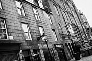Old Houses Photos - Row Of Old Granite Houses And Shops On The Green Aberdeen Scotland Uk by Joe Fox