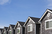 Roofline Prints - Row of Townhouses Print by Paul Edmondson
