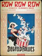 Ziegfeld Girl Prints - Row Row Row: Song Sheet Print by Granger