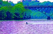 Philadelphia Digital Art Metal Prints - Row Row Row Your Boat Metal Print by Bill Cannon