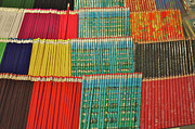 Colored Pencil Framed Prints - Row Upon Row Of Pencils Framed Print by Alan Fishleder
