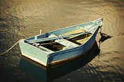Rowboat At Twilight Print by Mary Machare