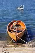 Rowing Metal Prints - Rowboat Metal Print by Joana Kruse