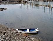 Joe Maranzano Art - Rowboat on the shore by Joe Maranzano
