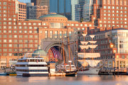 July Framed Prints - Rowes Wharf Framed Print by Susan Cole Kelly