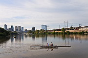 Rower Digital Art Prints - Rowing the Schuylkill Print by Bill Cannon