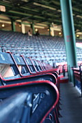 Boston Sox Prints - Rows of Empty Field Box Seats at Fenway Boston Print by Loud Waterfall Photography Chelsea Sullens