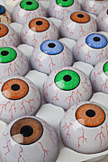Toy Prints - Rows of eyeballs Print by Garry Gay