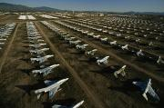Davis Photos - Rows Of Fighter Jets In Storage by Paul Chesley