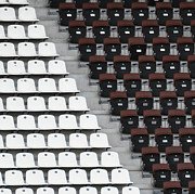 Large Group Of Objects Art - Rows Of Seats In Different Colors by Befo