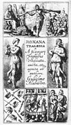 Alabaster Framed Prints - Roxana Tragaedia, 1632 Framed Print by Granger