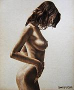 On Paper Pyrography Originals - Roxanca by Dino Muradian