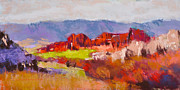 Colors Of Autumn Painting Posters - Roxborough Study Poster by Dennis Rhoades
