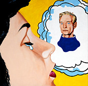 Influences Framed Prints - Roy Lichtenstein - Thinking of Him Framed Print by Dennis McCann