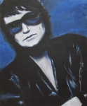 Celebrity Drawings Framed Prints - Roy Orbison In Beautiful Dreams - Forever Framed Print by Eric Dee