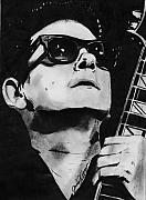 Music Legend Drawings - Roy Orbison by Jason Kasper