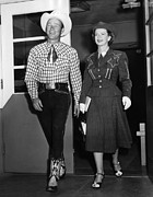 Roy Rogers, And His Wife Dale Evans Print by Everett