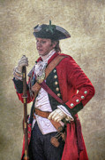 Military Uniform Prints - Royal Americans Officer Portrait  Print by Randy Steele