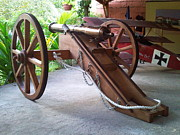 Field Sculptures - Royal Artillery 1798 bronze cannon replica by Richard John Holden