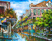 French Quarter Paintings - Royal at Pere Antoine Alley by Dianne Parks