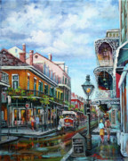 Lamppost Paintings - Royal Balconies by Dianne Parks