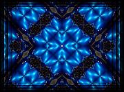 Diamond Mixed Media - Royal Blue by Robert Orinski