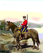 Candian Prints - Royal Canadian Mounted Police Print by Charles Shoup