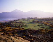Golf Course Photo Framed Prints - Royal Co. Down Golf Course Overlooked Framed Print by Chris Hill