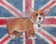 London Painting Originals - Royal Corgi by Robin Wiesneth