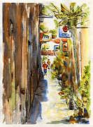 Caribbean Paintings - Royal Dane Mall by Pat Katz