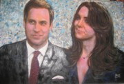 Great Event Paintings - Royal Engagement Photo credit to Mario Testino Royal Photographer to be auctioned for charity by Sam Shaker