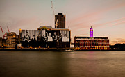 London Skyline Art - Royal Family and Oxo Tower by Dawn OConnor