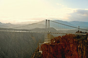 Suspension Bridge Posters - Royal Gorge Bridge Colorado - Take a walk across the sky Poster by Christine Till