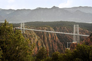 Scary Prints - Royal Gorge Bridge Colorado - The Worlds Highest Suspension Bridge Print by Christine Till