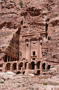 Jordan Photos - Royal Graves, Djebel Khubtha, Petra, Jordan by Patrice Hauser