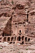 Royal Graves, Djebel Khubtha, Petra, Jordan Print by Patrice Hauser