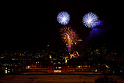 Fireworks Prints - Royal Greenwich Fireworks Print by Dawn OConnor
