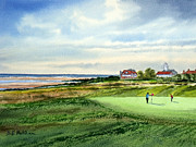 Liverpool  Paintings - Royal Liverpool Golf Course Hoylake by Bill Holkham