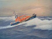 Saving Paintings - Royal National Lifeboat Institution Tamar Class lifeboat by William H RaVell III