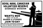 Navy Mixed Media Prints - Royal Naval Canadian Volunteer Reserve Print by War Is Hell Store