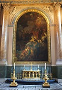 Anna Villarreal Garbis Prints - Royal Naval Chapel Interior Print by Anna Villarreal Garbis