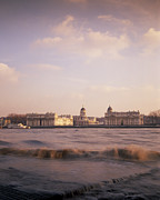 Royal Naval College Metal Prints - Royal Naval College in Greenwich in London in the UK Metal Print by Shaun Higson
