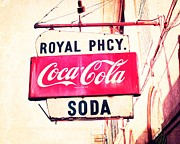 Coca-cola Sign Art - Royal Pharmacy Soda by Erin Johnson