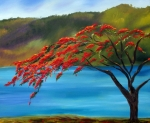 Royal Paintings - Royal Poinciana Resort H by Maria Soto Robbins