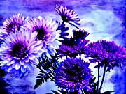 Purples Digital Art - Royal Purple Pretties by Marsha Heiken