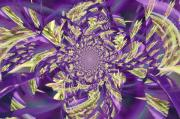 Royal Digital Art - Royal Purple  by Rose  Hill